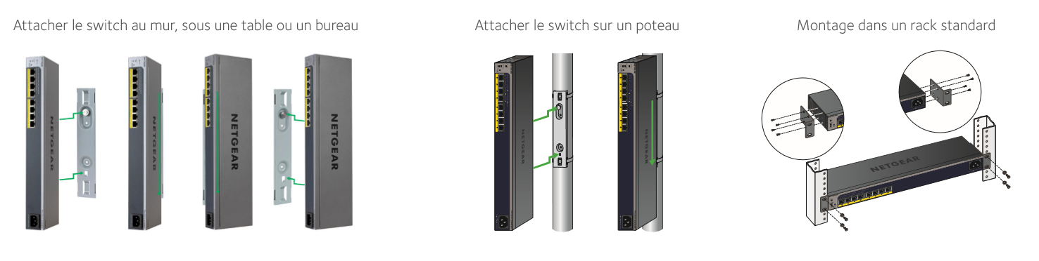 schéma options de montage switches multi-positions