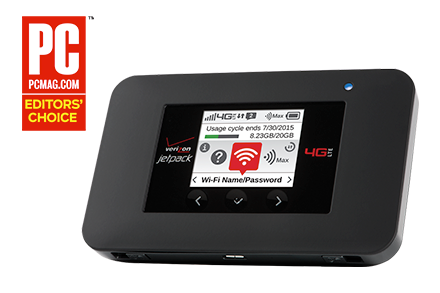 Verizon Jetpack<sup><sup>®</sup></sup> 4G LTE Mobile Hotspot